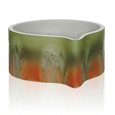 Womar Glass Forest Sunrise Decorative Bowl