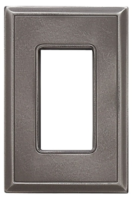 RQ Home Classic Magnetic Single GFCI Wall Plate; Classic Nickel Silver