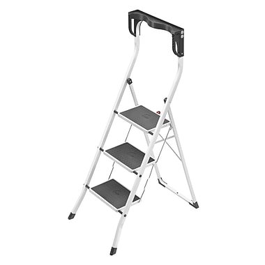 Hailo USA Inc. 3-Step Steel Safety Plus Step Stool w/ 330 lb. Load Capacity