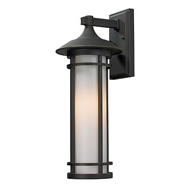 Z-Lite Woodland 1-Light Outdoor Wall Lantern; 20.25'' H x 8.13'' W x 9.13'' D