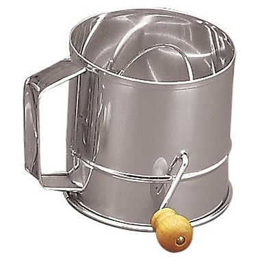 Fox Run Craftsmen Stainless Steel Crank Sifter (3 Cups)