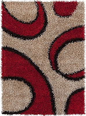 Chandra Vivid Brown/Red Area Rug; 3' x 5'