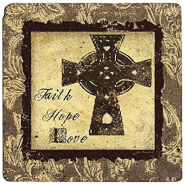 Thirstystone Ambiance Cross of Faith Travertine Trivet
