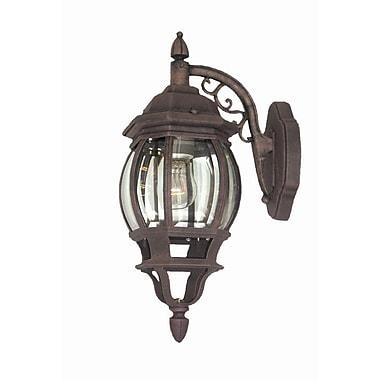 Woodbridge Basic 1-Light Outdoor Wall Lantern; Powder Coat Black