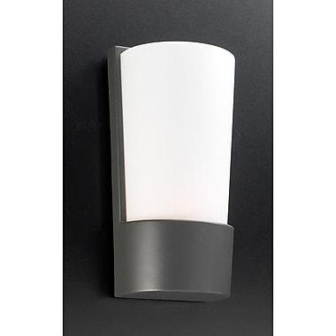 PLC Lighting 1-Light Outdoor Flush Mount; Architectural Bronze