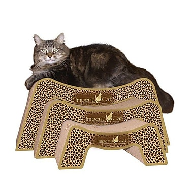 Imperial Cat Scratch 'n Shapes Scratch and Snooze Recycled Paper Scratching Board; Giraffe