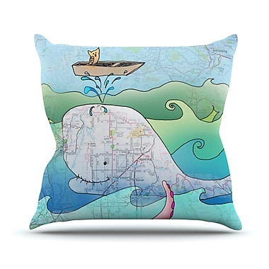 KESS InHouse I'm on a Boat Throw Pillow; 16'' H x 16'' W