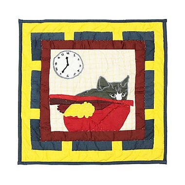 Patch Magic Cats Tale Cotton Throw Pillow
