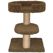 Family Cat 23'' Two Tier Cat Tree; Natural Beige