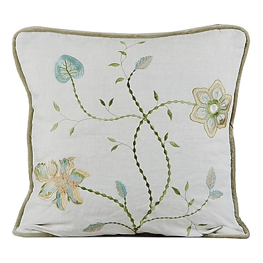 Gracious Living Passion Linen Throw Pillow; Natural