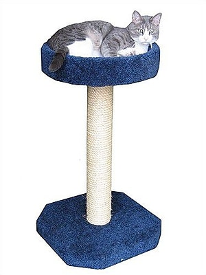 Molly and Friends Bed Sisal Scratching Post; Tan