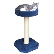 Molly and Friends Bed Sisal Scratching Post; Medium Blue