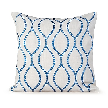 Gracious Living Illuminate Burlap Throw Pillow; White