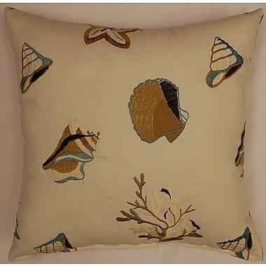 Dakotah Pillow Shelly Beach Knife Edge Throw Pillow (Set of 2); Natural