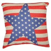 Cheungs Stars and Stripes Linen Throw Pillow
