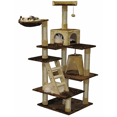Go Pet Club 72'' Condo House Cat Tree