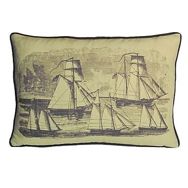 Kevin O'Brien Studio Nauticals Sailboats Lumbar Pillow; Aquarium