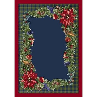 Milliken Winter Bountiful Green/ Blue Area Rug; Rectangle 2'8'' x 3'10''