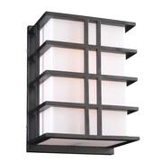 PLC Lighting Amore 2-Light Outdoor Bulkhead Light; 13.75'' H x 9.75'' W x7'' D