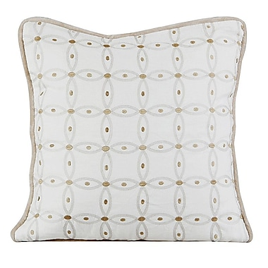 Gracious Living Gash Throw Pillow; Ivory