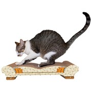 Imperial Cat Scratch 'n Shapes Love Seat Recycled Paper Scratching Board; Paisley