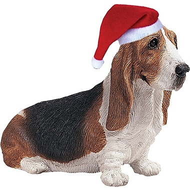 Sandicast Basset Hound Christmas Ornament