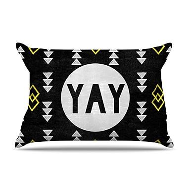 KESS InHouse Yay Pillowcase; King