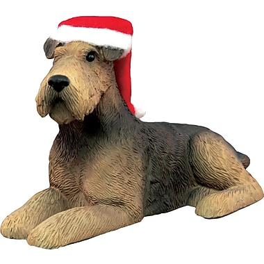 Sandicast Airedale Terrier Christmas Ornament