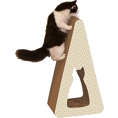 Imperial Cat Scratch 'n Shapes Pyramid Recycled Paper Scratching Post; Paisley