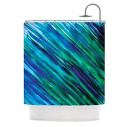 KESS InHouse Shower Curtain; Blue