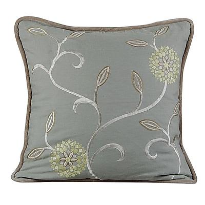 Gracious Living Bedazzle Throw Pillow; Mist