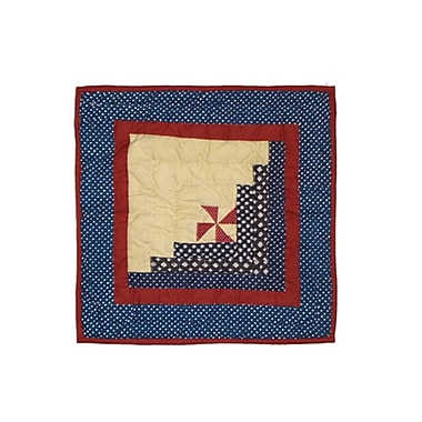 Patch Magic Midnight Log Cabin Cotton Throw Pillow