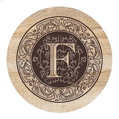 Thirstystone Monogram Coaster (Set of 4); F