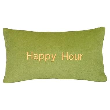 123 Creations Happy Hour Wool Lumbar Pillow