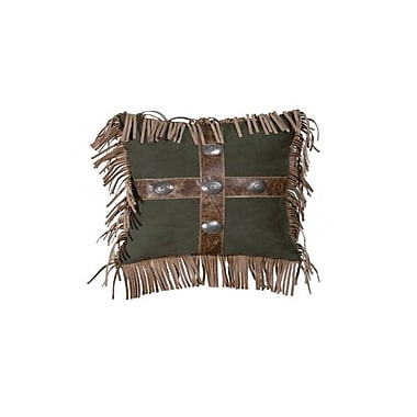 Wooded River Mustang Canyon Raven Suede Throw Pillow