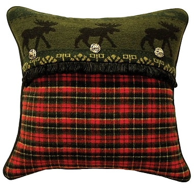 Wooded River McWoods I Plaid Throw Pillow