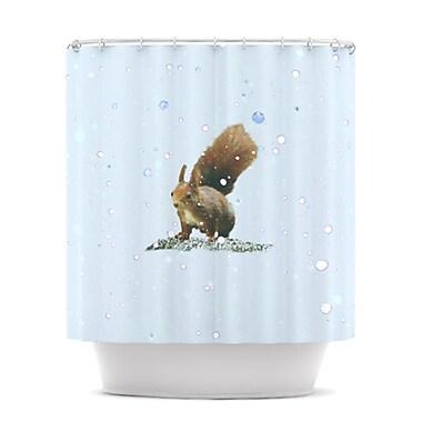 KESS InHouse Squirrel Shower Curtain