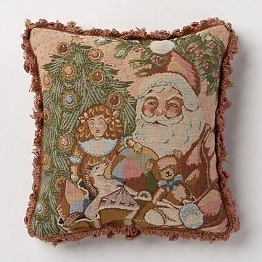 Corona Decor Holiday Whimsy Santa Throw Pillow