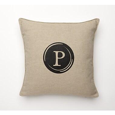 Corona Decor Linen Retro Typewriter Font Linen Throw Pillow; P