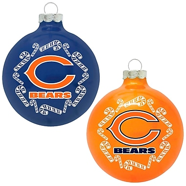 Topperscot NFL Home and Away Ornament (Set of 2); Chicago Bears