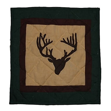 Patch Magic Deer Trail Cotton Throw Pillow