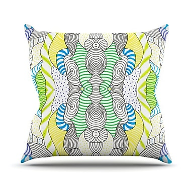 KESS InHouse Wormland Throw Pillow; 18'' H x 18'' W
