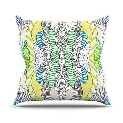 KESS InHouse Wormland Throw Pillow; 20'' H x 20'' W