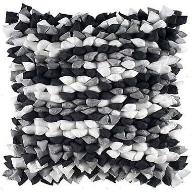 Rizzy Home Decorative Throw Pillow; Silver / Black