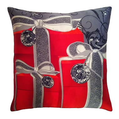 Filos Design Holiday Elegance Gifts Silk Throw Pillow
