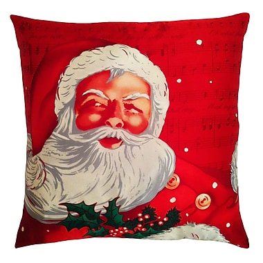 Filos Design Holiday Elegance Santa Clause Silk Throw Pillow