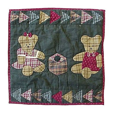 Patch Magic Ginger Teddy Cotton Throw Pillow