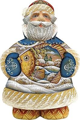 G Debrekht Derevo Into The Village Santa Figurine WYF078275851541