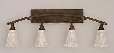 Toltec Lighting Bow 4-Light Vanity Light; Bronze