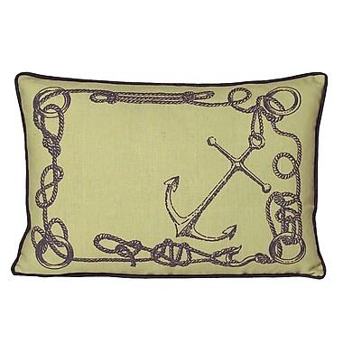 Kevin O'Brien Studio Nauticals Knots Lumbar Pillow; Aquarium